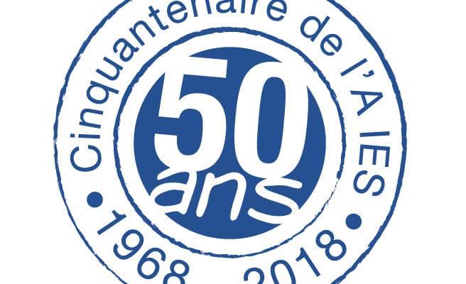 Logo du cinquantenaire de l'Association IES